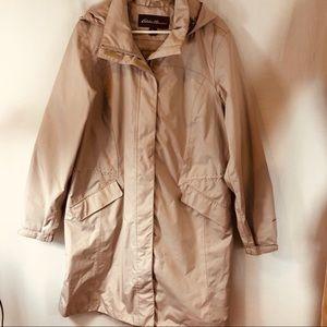 Eddie Bauer Woman's Raincoat Sz XL Beige